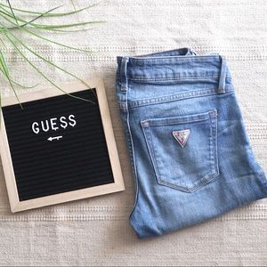 GUESS JEANS MID RISE CROP SKINNY